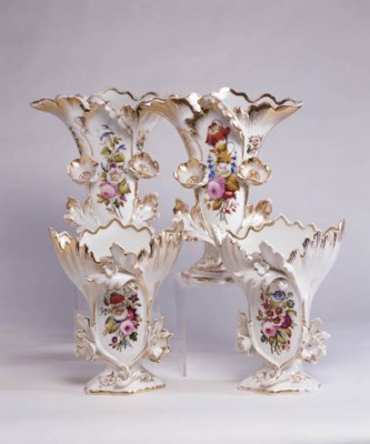 TWO PAIRS OF EARLY VICTORIAN P