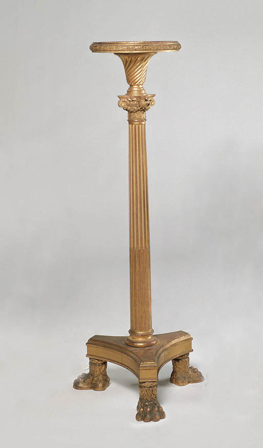 A VICTORIAN GILTWOOD TORCHERE