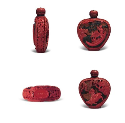 A JAPANESE CARVED THREE-COLOR