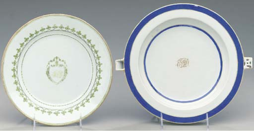 TWO INITIALLED PLATES,