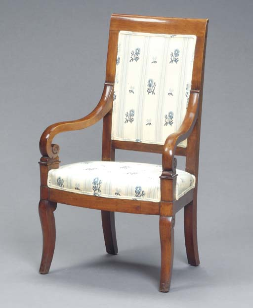 A PAIR OF LOUIS PHILIPPE MAHOGANY CHILDREN'S FAUTEUILS,