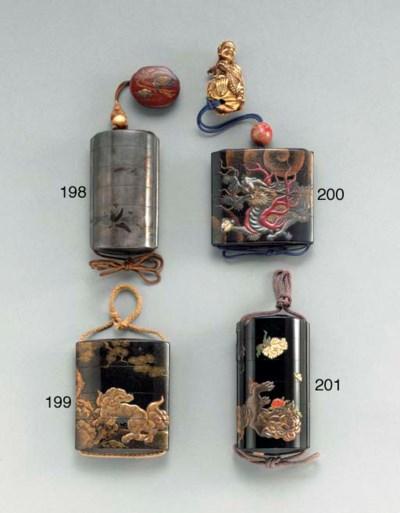 A Large Five-Case Inlaid-Lacqu