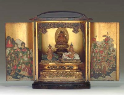 A JAPANESE BUDDHISTIC LACQUER