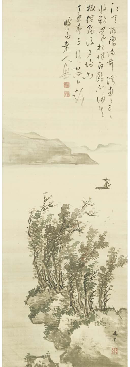 Tani Buncho (1763-1840), painter Kameda Bosai (1751-1824), calligrapher