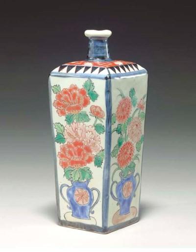 A Square Porcelain Bottle