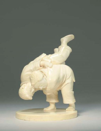 Ivory Model of Two Boys