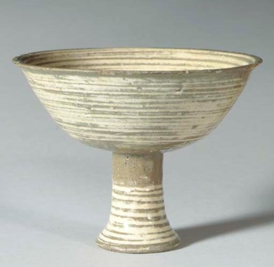 A Punch'ong Stoneware Stem Cup