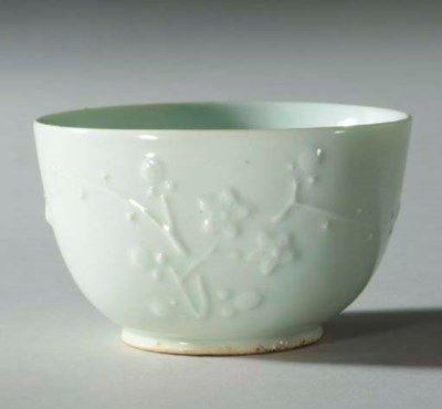 A Moulded Porcelain Bowl