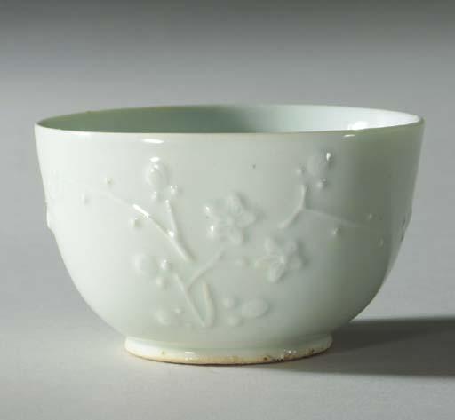 A Moulded Porcelain Bowl