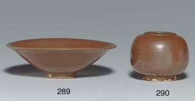 A CIZHOU RUSSET-GLAZED CONICAL