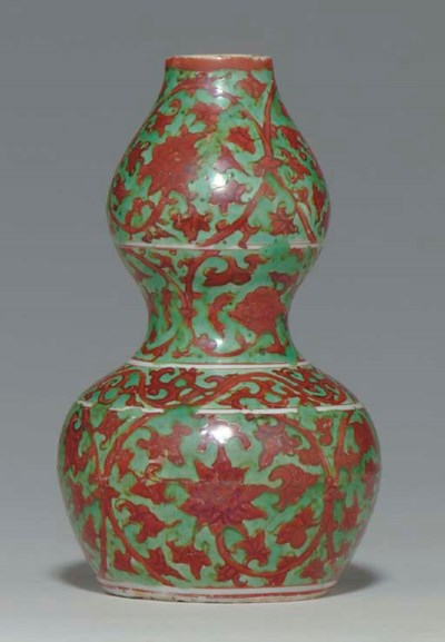 A RARE IRON-RED-DECORATED GREE