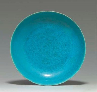 A RARE TURQUOISE-GLAZED INCISE