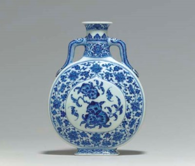 A MING-STYLE BLUE AND WHITE MO