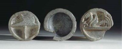 A Group of Three Schist Trays*