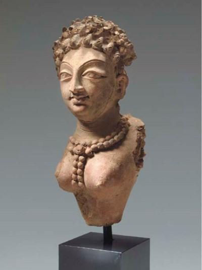 An Unusual Terracotta Bust of