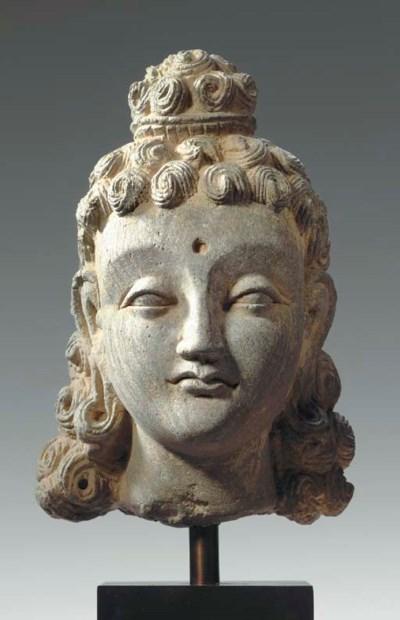A Gray Schist Head of Siddhart