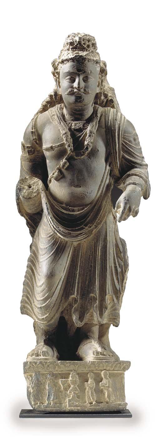 A Gray Schist Figure of a Bodhisattva