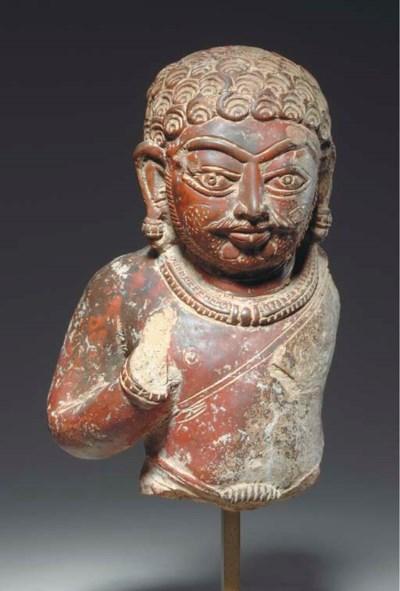 A Terracotta Male Bust