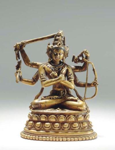 A Bronze Figure of Manjuvajra