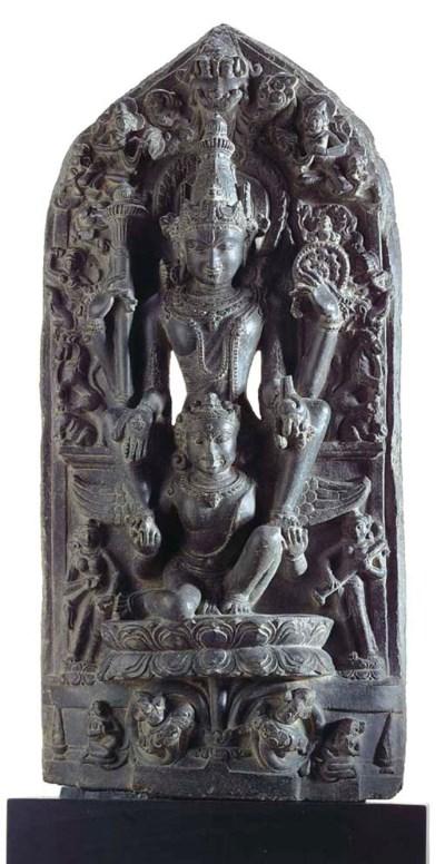 A Blackstone Stele of Vishnu o
