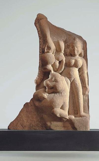 A Small Buff Sandstone Relief