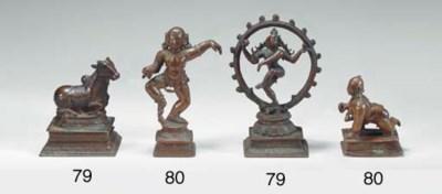 Two Small Bronzes of Shiva Nat