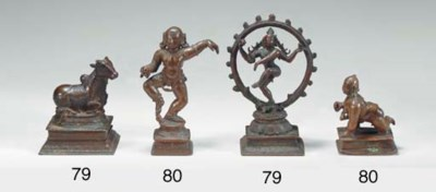 Two Small Bronze Figures of Kr