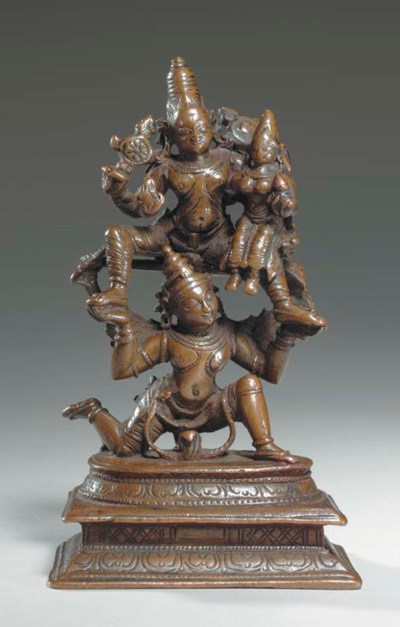 A Small Bronze Figure of Laxmi