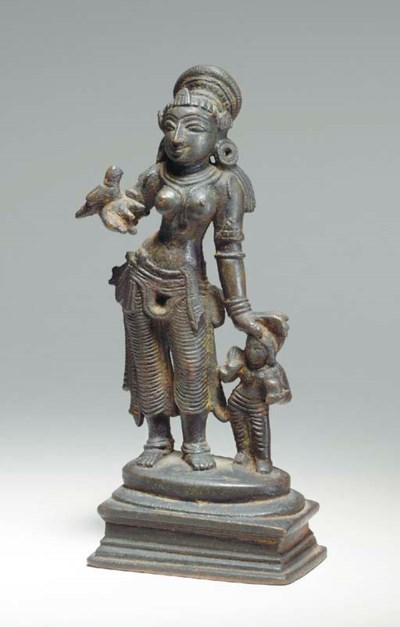 A Bronze Figure of Saint Andal