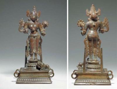 A Rare Bronze Figure of Ganga
