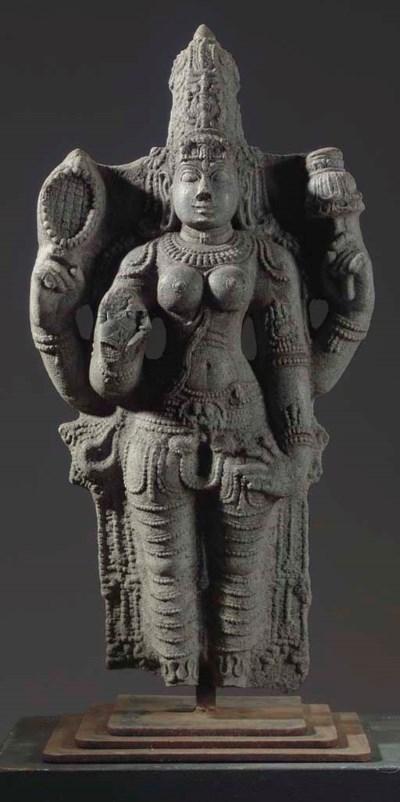 A Granite Figure of Lakshmi