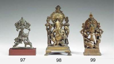 A Brass Figure of Durga Mahish