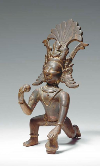 A Brass Figure of the Baby Kri