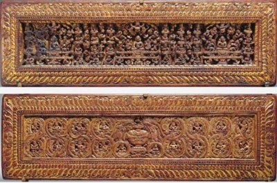 A Pair of Gilt Wood Manuscript