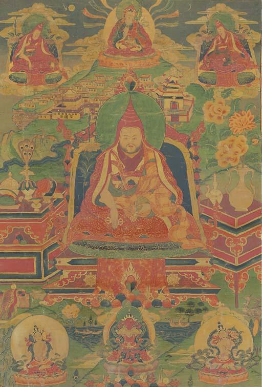 A Thangka of a Kathog Situ Lineage