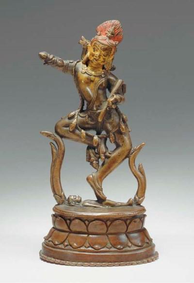 A Bronze Figure of Hevajra Her