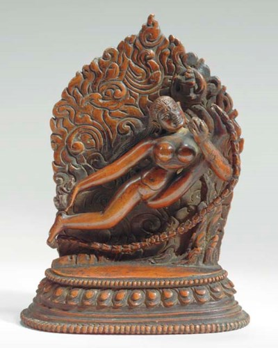 A Copper Figure of Vajrayogini