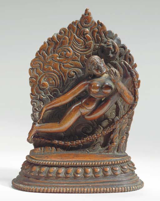 A Copper Figure of Vajrayogini: Maitri Khachod