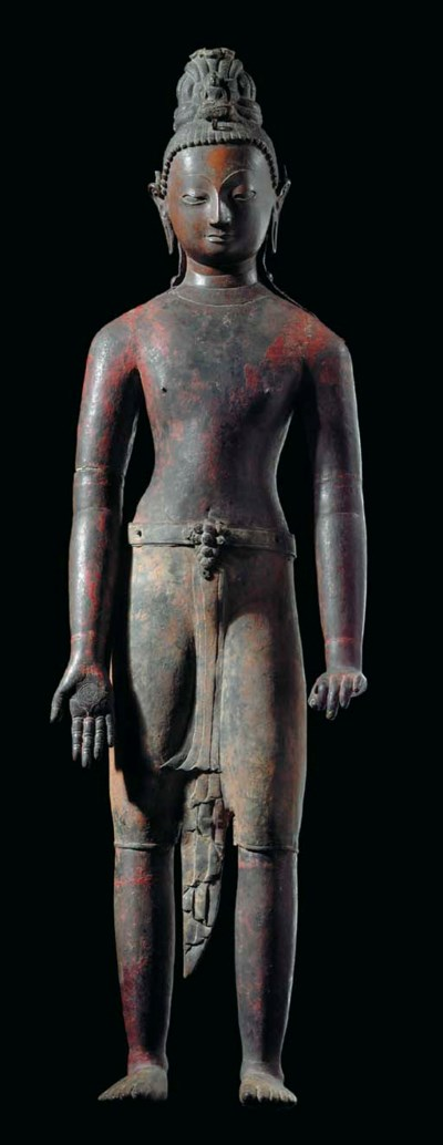 A Large Copper Figure of Avalo