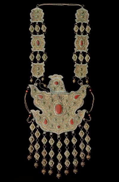 A Gilt Silver and Inlaid Pecto