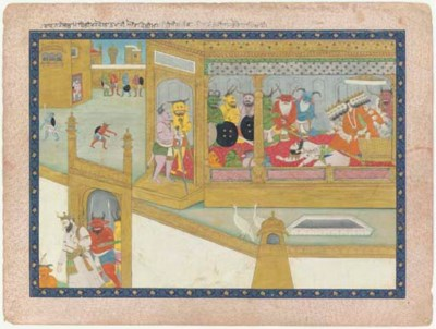 A Scene from the Ramayana: Rav