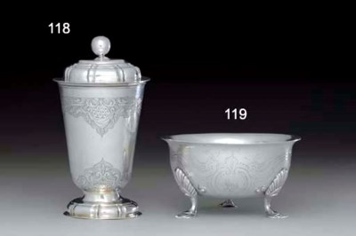 A GERMAN SILVER CUP AND COVER