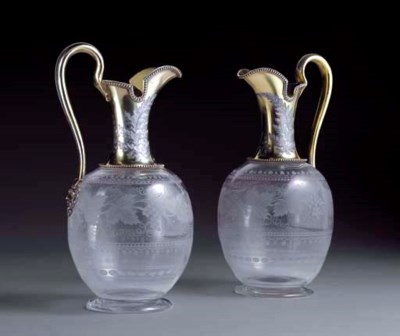 A FINE PAIR OF VICTORIAN SILVE