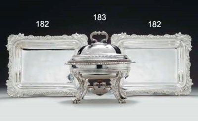 A GEORGE IV SILVER CHAFING DIS
