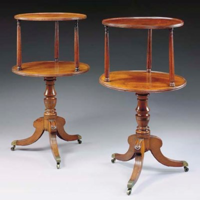 A PAIR OF IRISH REGENCY MAHOGA
