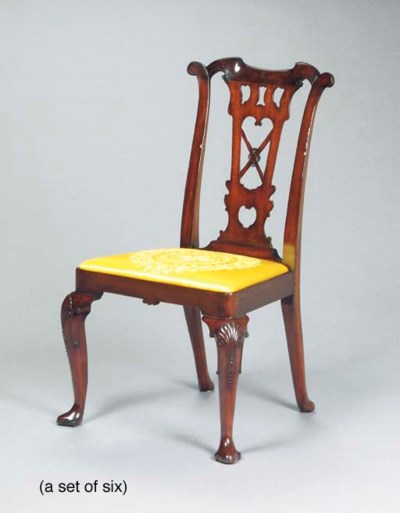 A SET OF SIX IRISH MAHOGANY DI