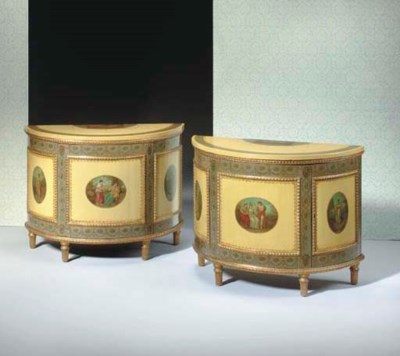 A PAIR OF GEORGE III STYLE POL