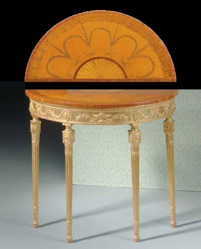 A GEORGE III STYLE SATINWOOD,