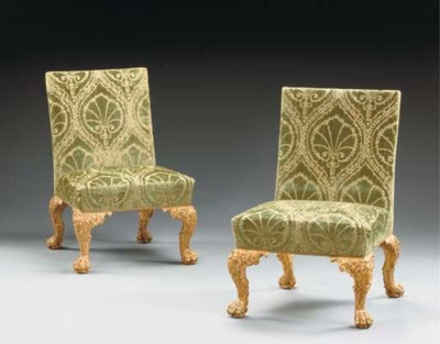 A PAIR OF GEORGE II GILTWOOD S