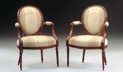 A PAIR OF GEORGE III STAINED-B